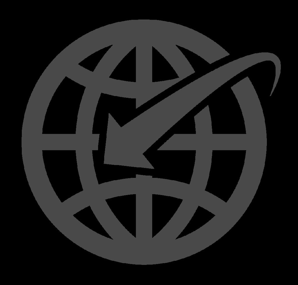 Icoon van wereldbol internet